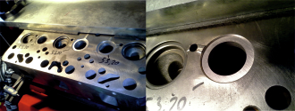 Scania-Zylinderkopf Einbau der Ventilsitzrohlinge