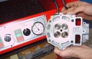 Zylinderkopf, Dichtheitsprüfung von Ventilen, ABP-Racing